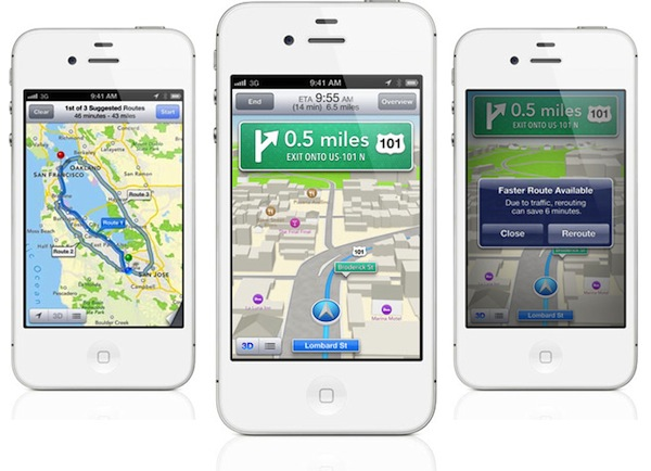 Waze, otras compañías y los propios usuarios, dotan las nuevas características de los Mapas de iOS 6