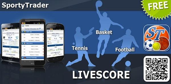 Revisar resultados de tus deportes favoritos con SportyTrader