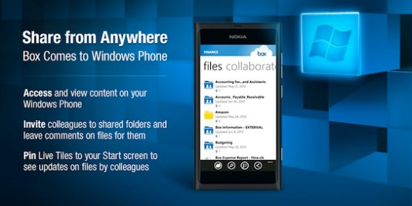 Box Windows Phone 590x295 Box presenta su aplicación oficial para Windows Phone