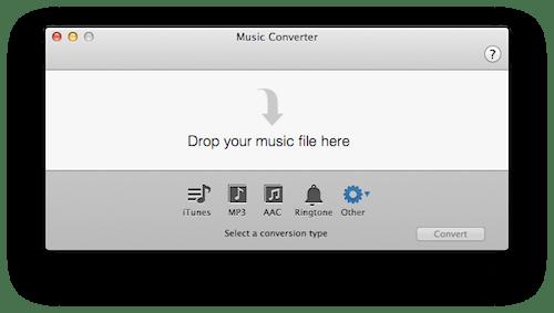 Music Converter, un sencillo y gratuito convertidor de audio en tu Mac