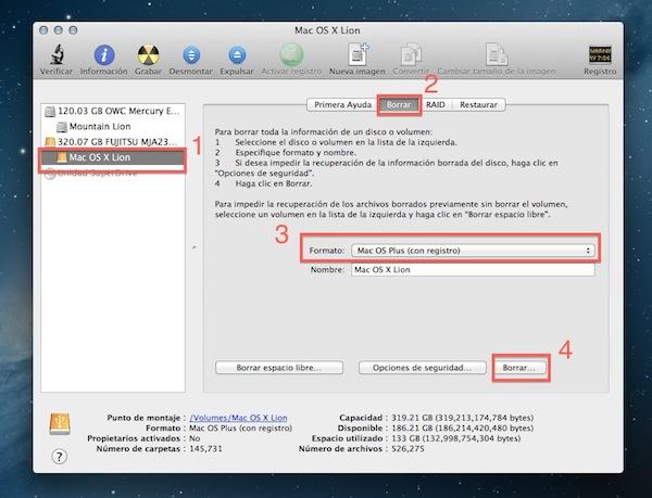 Instalar Mountain Lion USB SD 2 Cómo instalar OS X 10.8 Mountain Lion desde un USB y SD