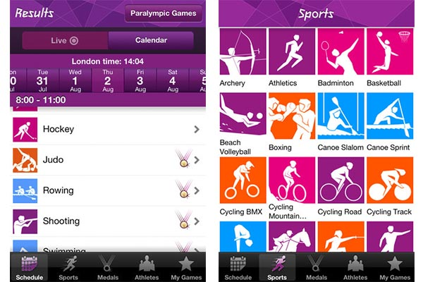 London 2012 official results Consultar resultados de las Olimpiadas Londres 2012 desde tu smartphone