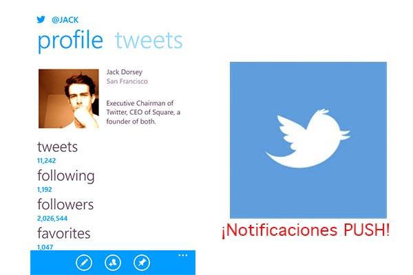 Twitter Windows Phone Twitter para Windows Phone ya tiene notificaciones Push