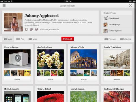 Pinterest lanza su aplicación oficial para Android e iPad