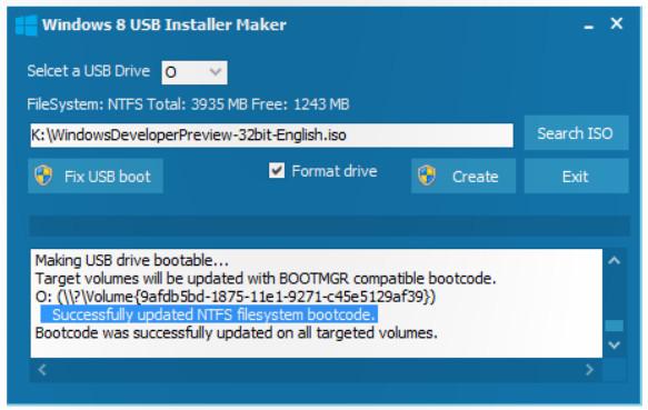 windows 8 usb installer 2 Preparar un USB booteable para instalar Windows 8