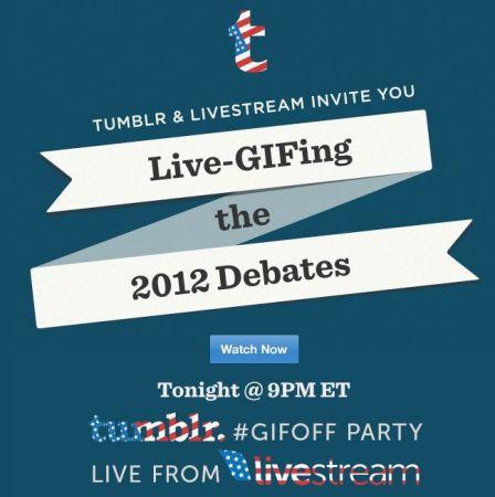 Tumblr y Livestream se unen para transmitir en vivo el segundo debate presidencial de EUA