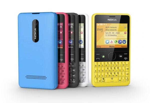 Nokia Asha 210 600x414 Nokia Asha 210, el primer teléfono con un botón para WhatsApp