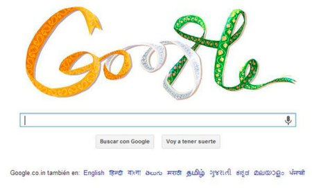 Google se equivoca en el Doodle de la Independencia de India