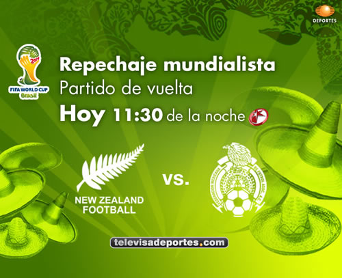 mexico nueva zelanda repesca vuelta México vs Nueva Zelanda en vivo, repesca partido de vuelta
