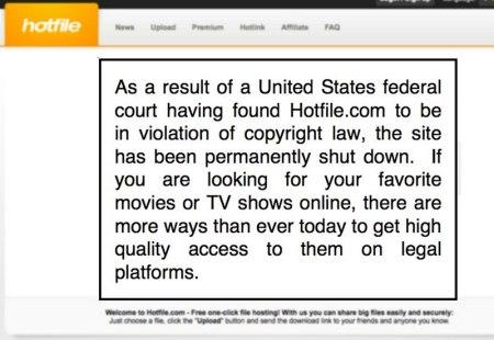 Hotfile cierra y deberá pagar 80 millones de dólares a la MPAA