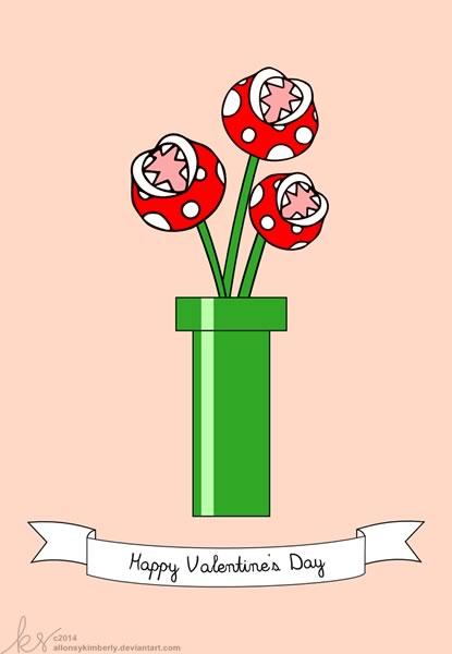 tarjetas san valentin mario bros Tarjetas de San Valentín para Gamers que puedes imprimir