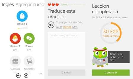 Duolingo, la app para aprender idiomas gratis lanza versión para Windows Phone