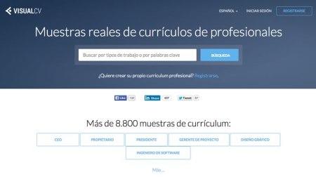 VisualCV ahora muestra ejemplos de currículum reales