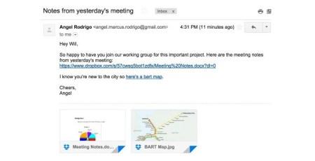 Dropbox se integra con Gmail para enviar archivos más fácil