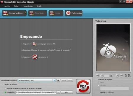 Lanzan Aiseesoft PDF Converter Ultimate en español