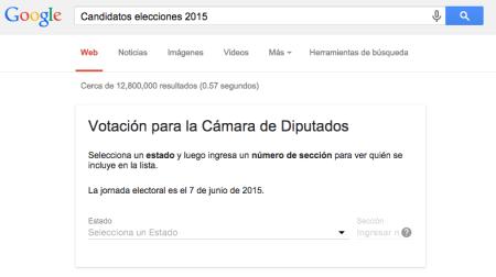 Conoce a los candidatos de las Elecciones 2015 con Google