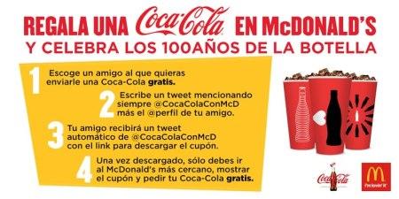 Obtén una Coca Cola gratis en McDonald's por mandar un tweet