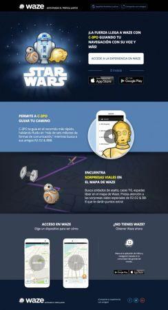 Star Wars llegó a Waze con la voz de C-3PO