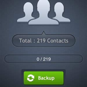 My Contacts Backup Backup Button