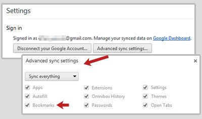 Advanced Sync Settings Page