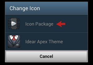 Icon Package Selection