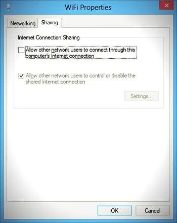 wifi properties sharing