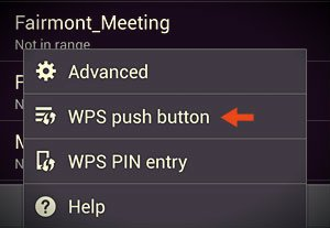 wps push button option