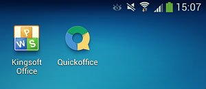 kingsoft office and quickoffice