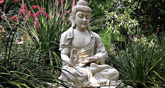 New Buddha Statue in garden