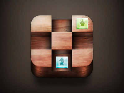 chessboard iPhone iPad app icon wooden
