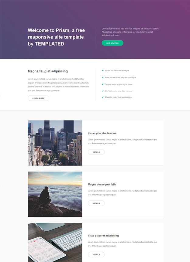 prism - free responsive html5 template