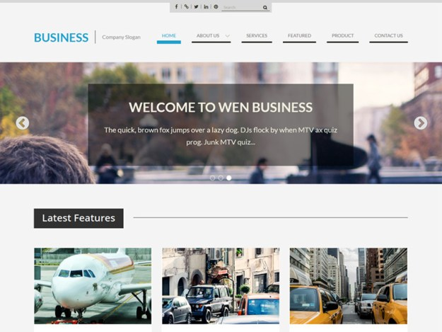 WEN-Business - one of 20 free wordpress themes for business consultants