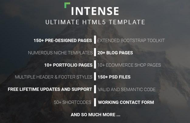 intense HTML5 template