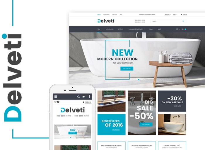 Delveti - Plumbing Supplies Magento Theme