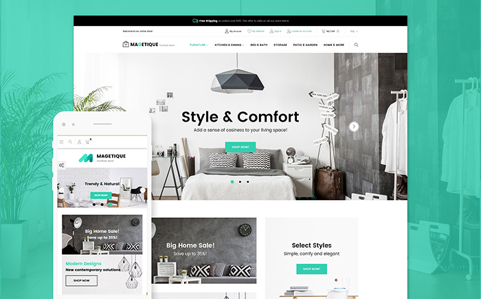 Magetique - Modern Furniture Magento Theme