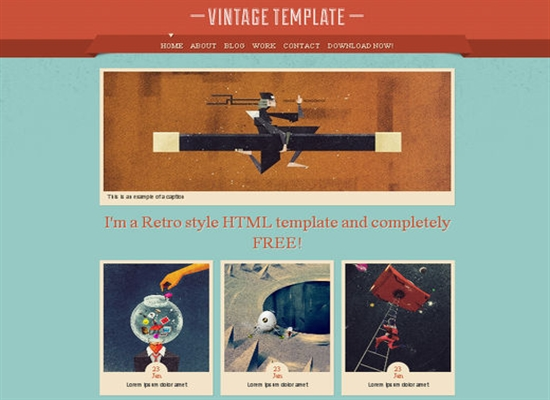 Retro Html Templates 75+ Free HTML5 CSS3 Templates Which You Should Not Miss