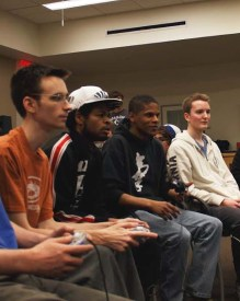 More than 50 students gathered at the first WFGC event on Friday, Jan. 16 to play video games and compete for the $100 prize. / photo by Chloe Hall