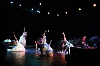 The cast of Big Love perform on the Havana Theatre Festival stage. Contributed Photo
