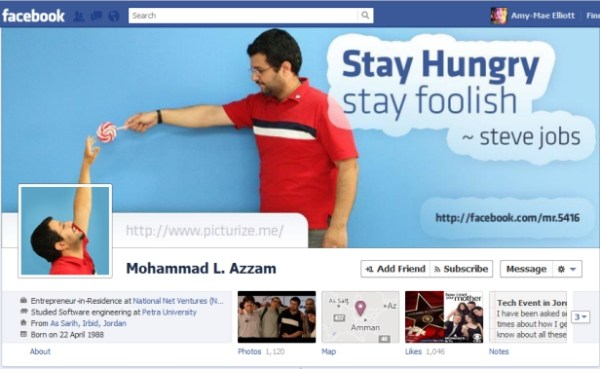 azzam1 40 Creative Examples of Facebook Timeline Designs