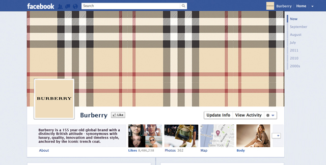 burberry The Best Facebook Timeline Cover Designs