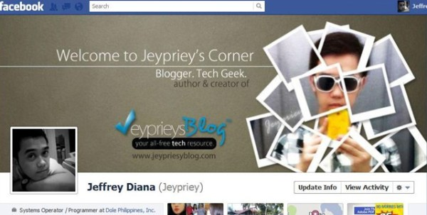 jeffrey diana 40 Creative Examples of Facebook Timeline Designs