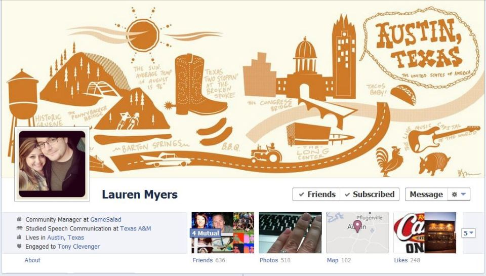 lauren facebook1 The Best Facebook Timeline Cover Designs