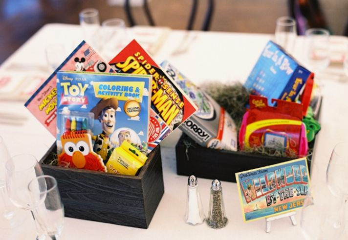 Game Centerpieces for Kids at wedding