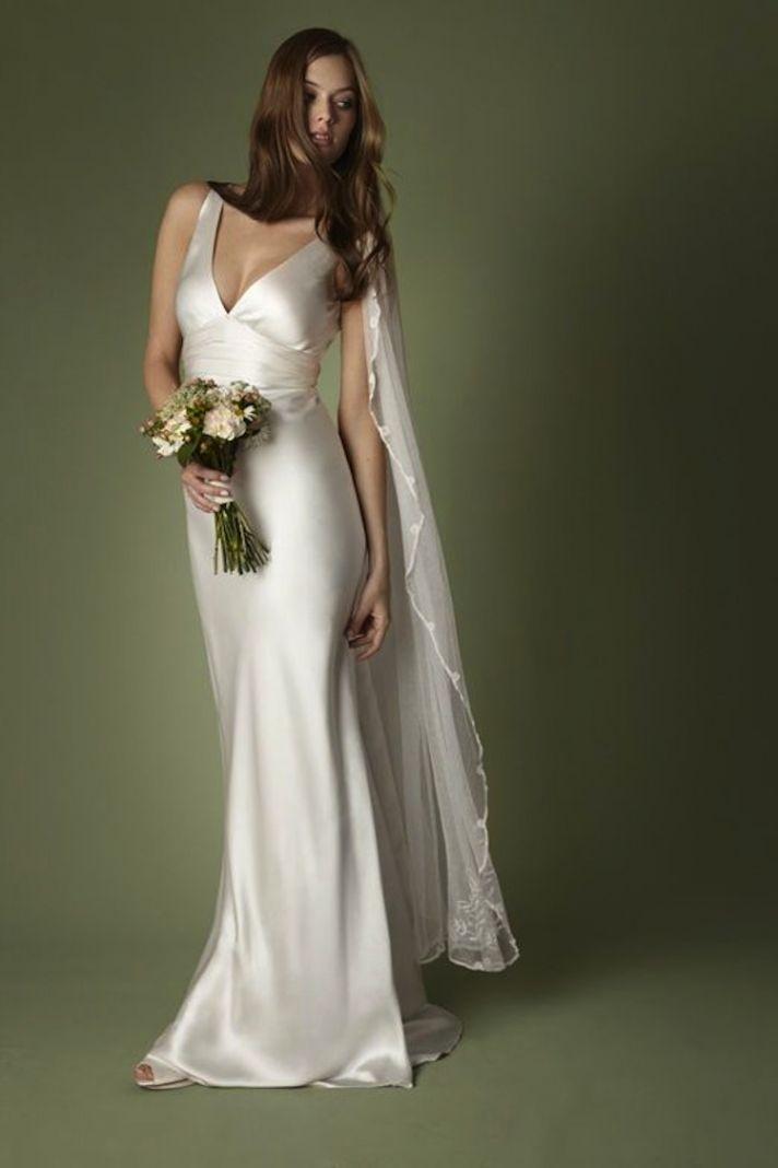 Sleek And Elegant Liquid Satin Wedding Dresses - Crazyforus