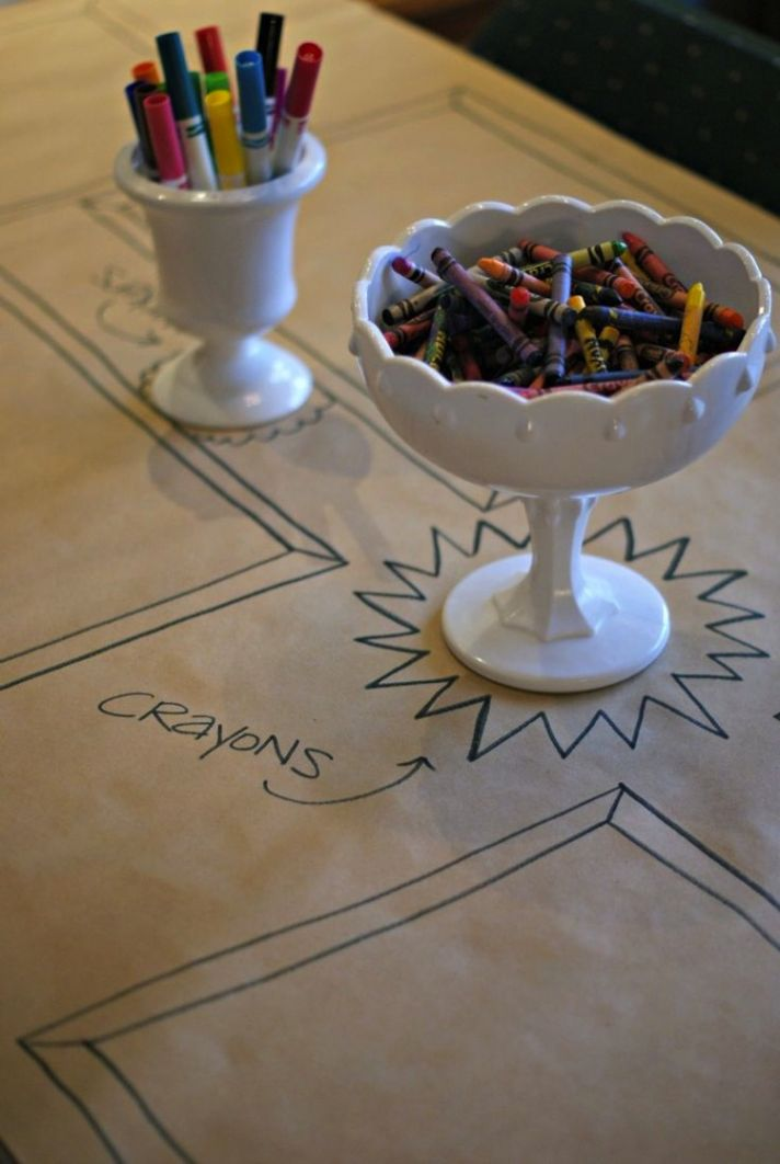 Cute Crayons for Kids Table