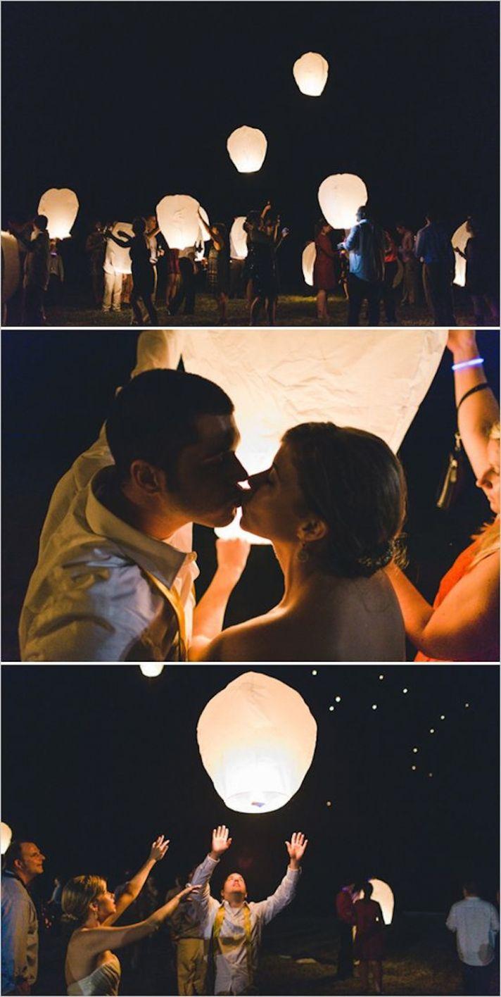 fun ideas to create a memorable send off wedding send off ideas Floating Latern Exit Wedding Chicks Confetti Send Off