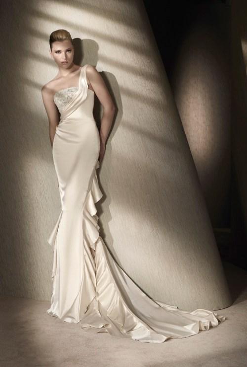 Medium Of Silk Wedding Dresses