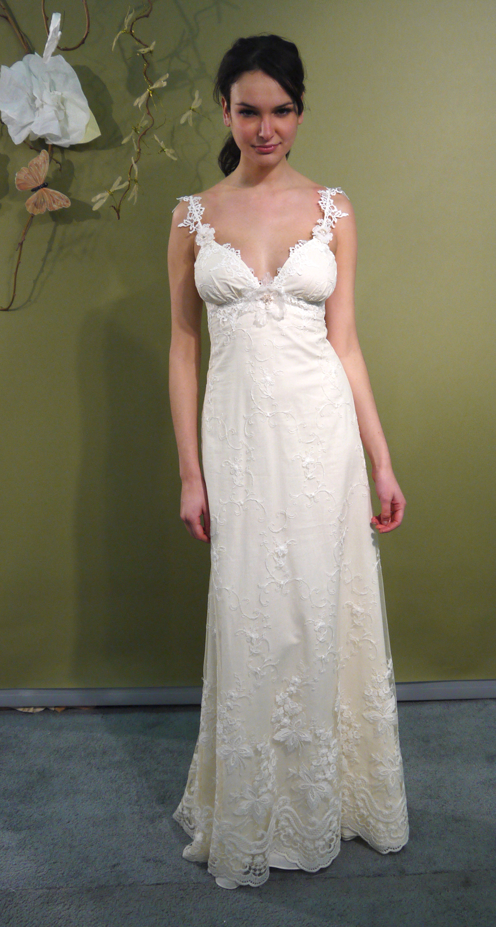 romantic sweetheart neckline ivory column wedding dress with vintage chic bridal belt by claire pett ivory wedding dress Romantic sweetheart neckline ivory column wedding dress with vintage chic bridal belt by Claire Pett