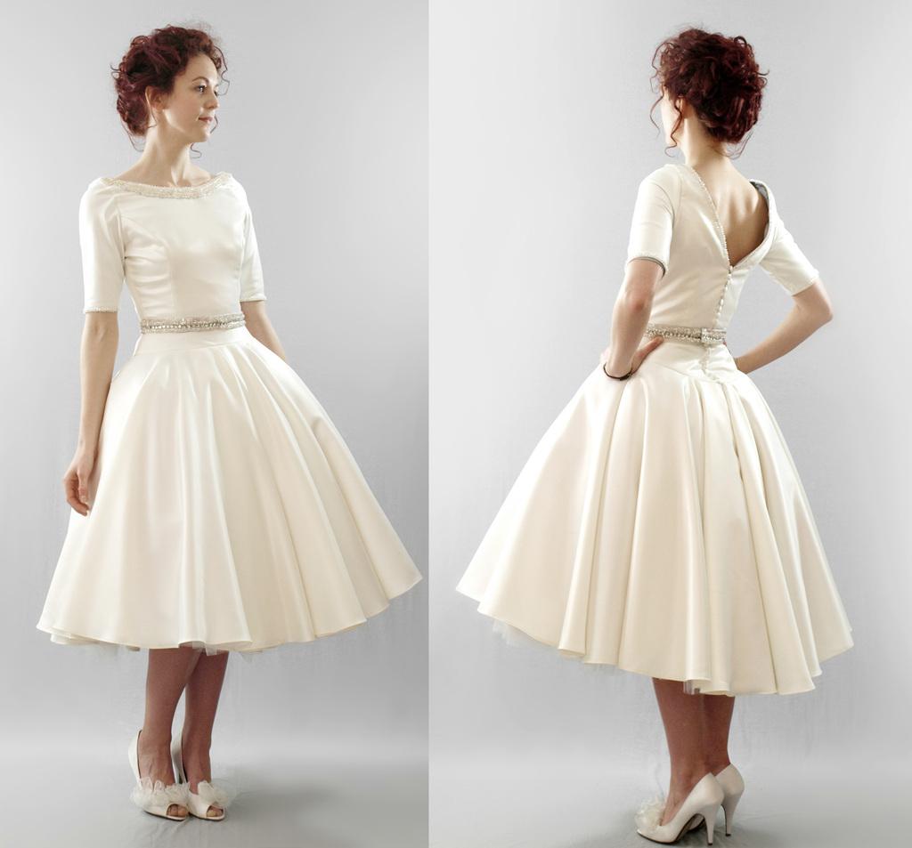 vintage retro wedding dresses retro wedding dresses Vintage Inspired Wedding Dresses Carrie Vintage Inspired Wedding Dress in Ivory by Nataya 00 AT vintagedancer