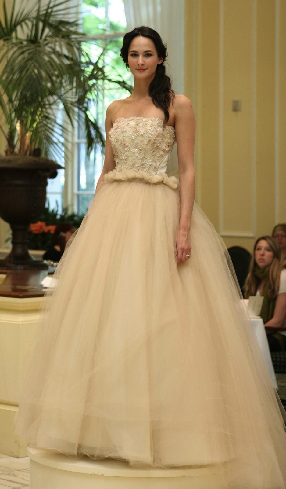 beige romantic tulle ballgown wedding dress beige wedding dress Beige romantic tulle ballgown wedding dress